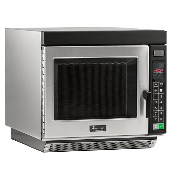 amana rc30s2 heavy duty stainless steel commercial microwave oven with push button controls 208 240v 3000w
