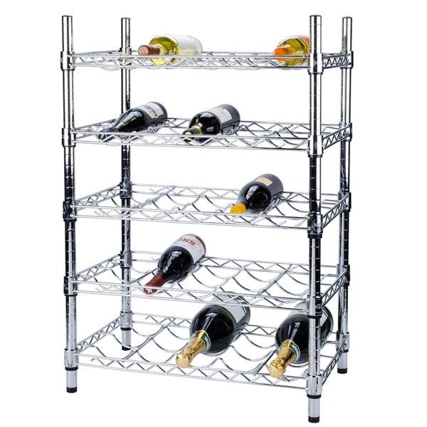 regency 14 x 24 5 shelf wire wine rack with 34 posts