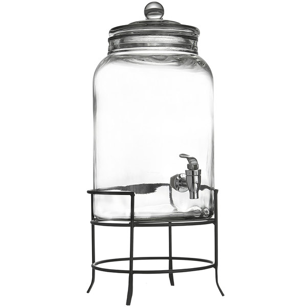 Jay Imports 2.75 Gallon Montgomery Glass Beverage