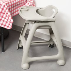 Restaurant High Chair With Tray Silver Chiavari Chairs Lancaster Table Seating Ready To Assemble Gray Stackable Image Preview