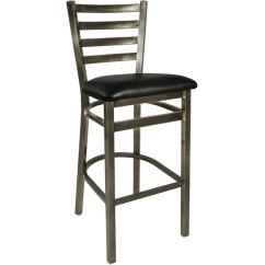 Steel Vinyl Chair Ikea Cotton Covers Bfm Seating 2160bblv Cl Lima Bar Height With 2 Black Main Picture Image Preview