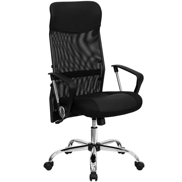 high backed chair atlanta massage flash furniture bt 905 gg back black mesh office with main picture