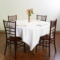 "Round Folding Table, 48"" Heavy Duty Plastic, White Granite ..."