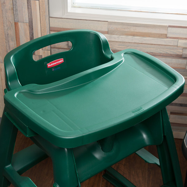 green high chair toddler table rubbermaid fg781588dgrn restaurant tray image preview