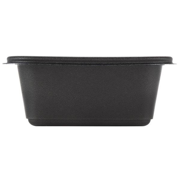 genpak fpr016 3l smart set pro 16 oz black 4 5 8 x 5 7 8 x 2 3 8 rectangular microwaveable container 300 case