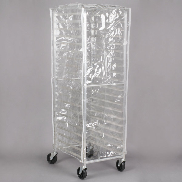 regency 63 clear 14 mil plastic bun pan rack cover