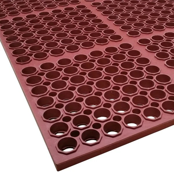 commercial restaurant kitchen mats hand towels for the cactus mat 3520 r3 vip floormate 29 x 39 red heavy duty grease main picture