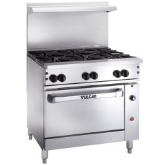 Vulcan Kitchen Design For A Small Space 36c 6bn Endurance 6 Burner 36 Natural Gas Range With Main Picture Image Preview