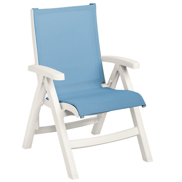 sling chair outdoor flag halyard grosfillex us194004 belize white midback folding resin main picture