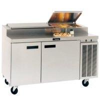 "Delfield 18660PTBM 60"" Two Door Refrigerated Pizza Prep Table"