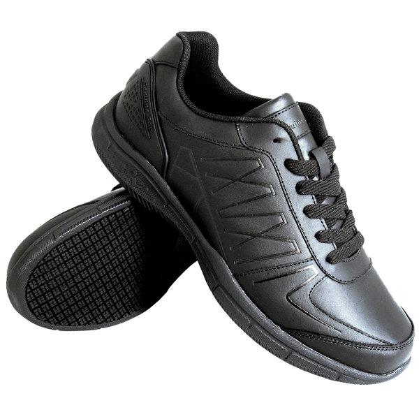 Black Leather No Slip Shoes