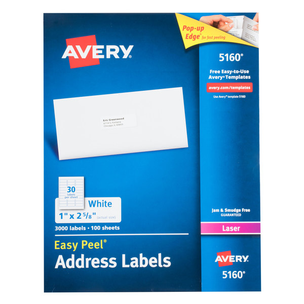 avery address labels 5160
