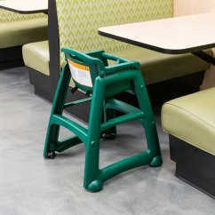 Green High Chair White Wooden Rocking Rubbermaid Fg780508dgrn Sturdy Restaurant Image Preview