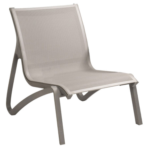 Grosfillex US001289 Sunset Solid Gray  Platinum Gray