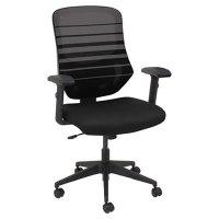 Alera ALEEM4254 Embre Black / Taupe Mid-Back Mesh Office ...