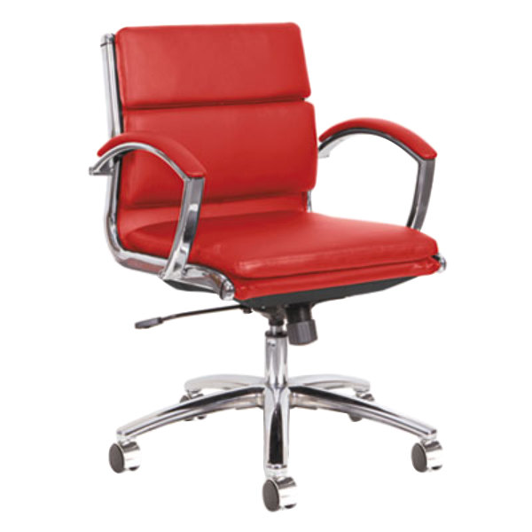 Alera ALENR4739 Neratoli LowBack Red Leather Office Chair