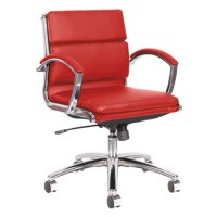 Alera ALENR4739 Neratoli Low-Back Red Leather Office Chair ...