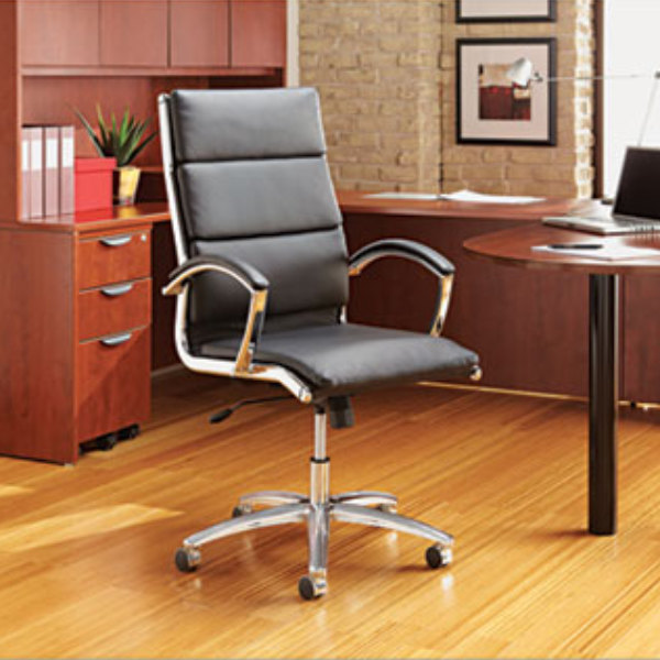 alera office chairs racing car chair officeworks alenr4219 neratoli mid back black leather with image preview
