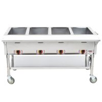 APW Wyott PSST4S Portable Steam Table - Four Pan - Sealed ...