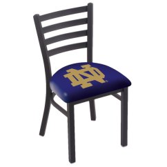 Notre Dame Chair Pvc Adirondack Chairs Canada Holland Bar Stool L00418nd Nd Black Steel University Of With Ladder Back Main Picture