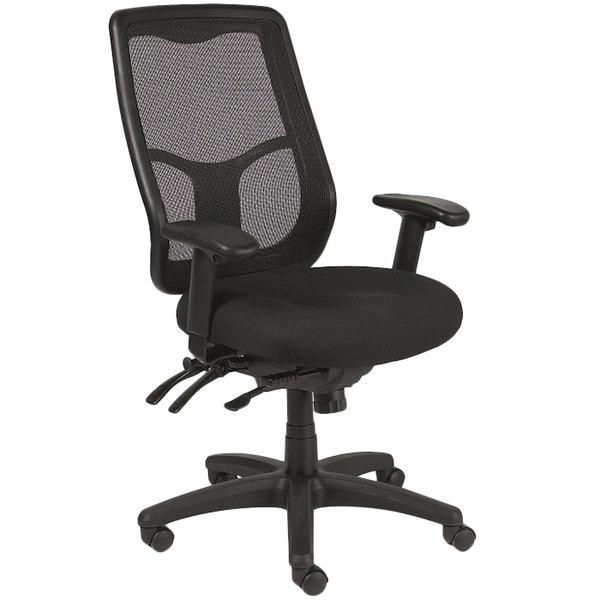 Eurotech Seating MFHB9SL5806 Apollo Black Dove Fabric