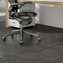Office Chair Mat White Plastic Dining Chairs Universal Alemat4553clpl 53 X 45 Clear Cleated Low Pile Carpet With Image Preview