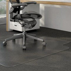 Office Chair Mats For Carpet Oversized Chairs 500lbs Universal Alemat3648clpl 48 X 36 Clear Cleated Low Pile Mat With Image Preview