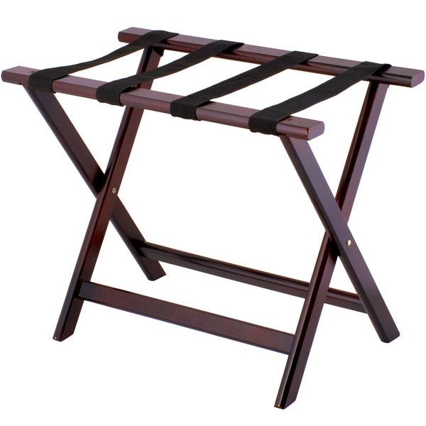 lancaster table seating 24 1 2 x 15 x 20 mahogany wood folding luggage rack