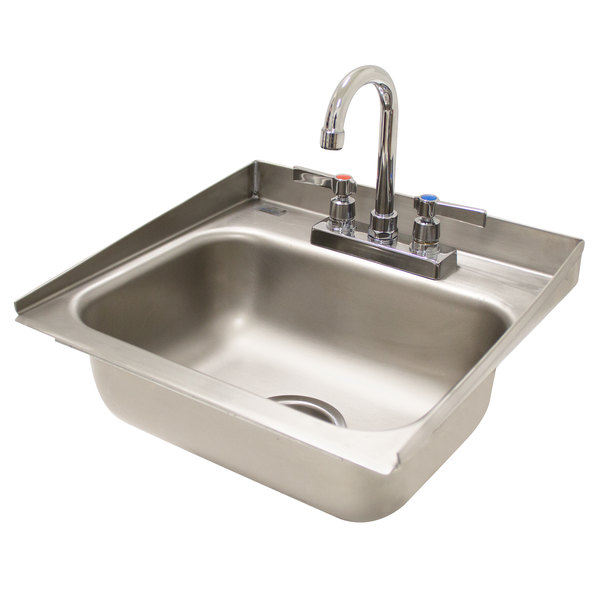 advance tabco di 1 30 drop in stainless steel sink with 2 tapered side splash 14 x 10 x 5 bowl