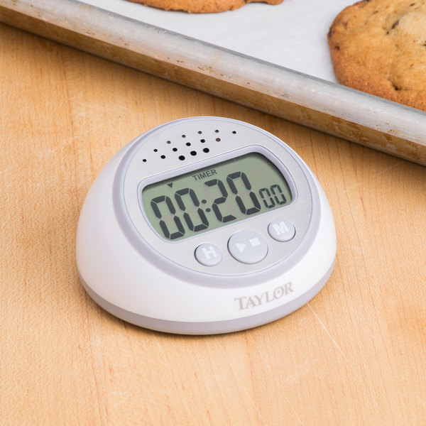 taylor kitchen timer eat in table 5873 extra loud digital with clock