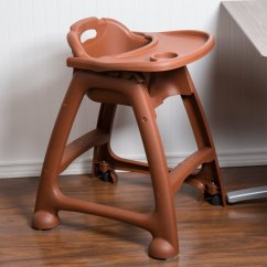 Restaurant High Chair With Tray Oversized Slipcover T Cushion Lancaster Table Seating Assembled Brown Stackable Plastic Image Preview