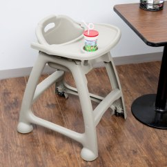 Restaurant High Chair With Tray Theatre Chairs Best Buy Lancaster Table Seating Assembled Gray Stackable Plastic Image Preview