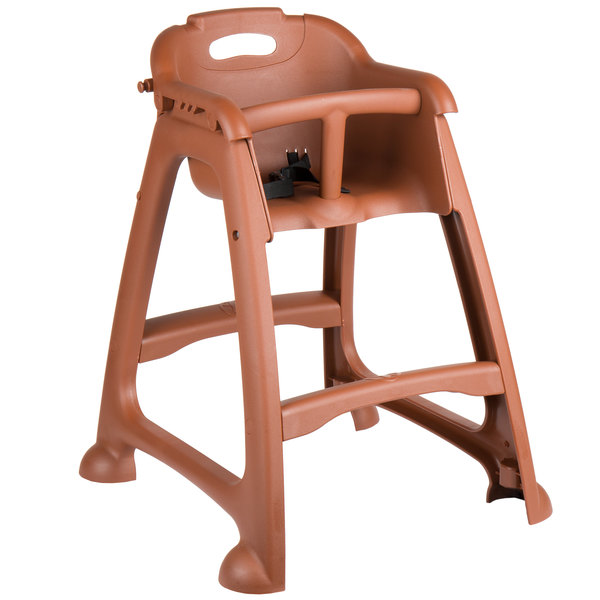 restaurant high chair with tray best recliner australia chairs and booster seats lancaster table seating ready to assemble brown stackable plastic no wheels