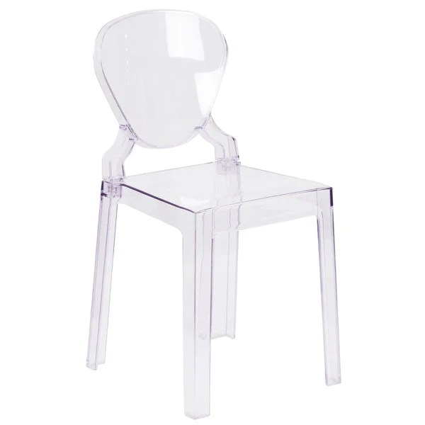 transparent polycarbonate chairs steelcase think chair flash furniture ow tearback 18 gg ghost outdoor indoor main picture