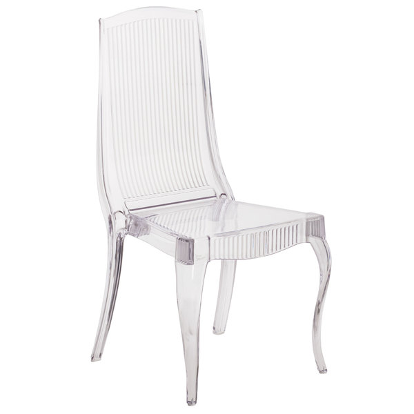 transparent polycarbonate chairs slip cover chair and ottoman flash furniture bh k002 crystal gg elegance main picture