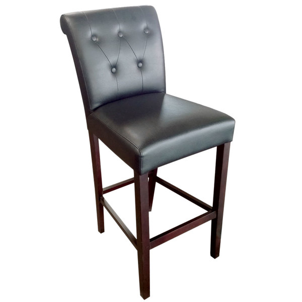 counter height chairs with back xmen guy in wheelchair holland bar stool 320030esblkvinyl arie espresso wood and black vinyl seat main picture image preview
