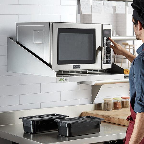 regency 24 x 24 stainless steel microwave shelf