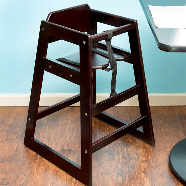 high chair restaurant vinyl material for chairs lancaster table seating assembled stacking wood image preview
