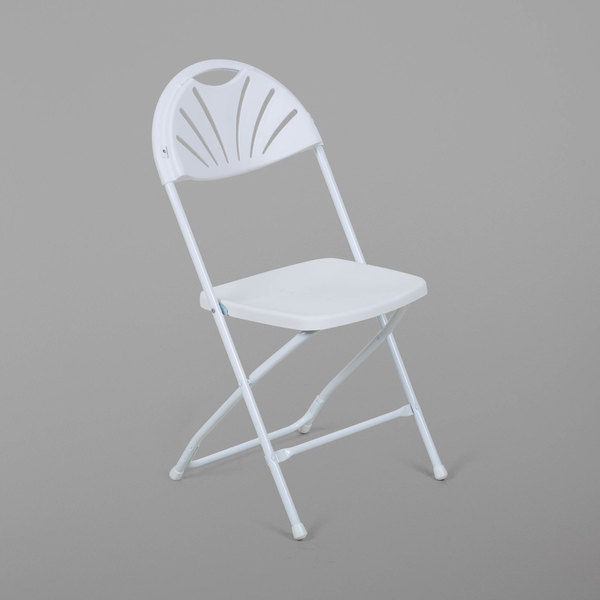 white folding chairs chair covers for hire in kempton park lancaster table seating plastic fan back image preview main picture