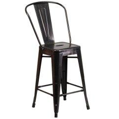 Folding Picnic Chairs B Q Modern High Back Flash Furniture Ch 31320 24gb Bq Gg 24 Black Antique Gold Metal Main Picture