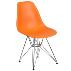 Orange Side Chair Office Shop Near Me Flash Furniture Fh 130 Cpp1 Or Gg Elon Series Plastic Main Picture