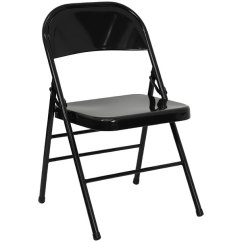 Black Metal Folding Garden Chairs Fishing Chair Full Accessory Kit Flash Furniture Hf3 Mc 309as Bk Gg Main Picture