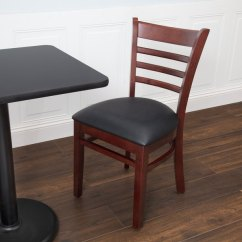 Ladder Back Chair Two Seat Chairs Lancaster Table Seating Mahogany Finish Wooden With 2 1 Padded