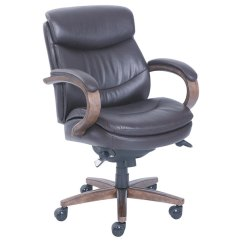 Leather Executive Office Chair Black Wingback La Z Boy 48963b Woodbury Mid Back Brown Main Picture Image Preview