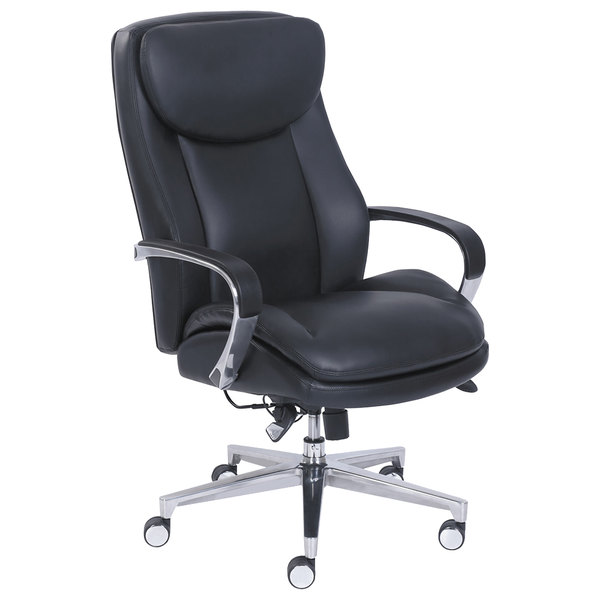 leather executive office chair stool ladder la z boy 48957 commercial 2000 high back black main picture image preview