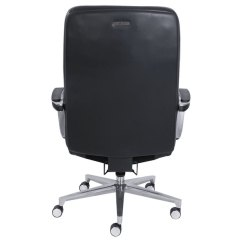 La Z Boy Big Tall Executive Leather Office Chair Black Clear Plastic Covers 48956 Commercial 2000 And Main Picture Image Preview