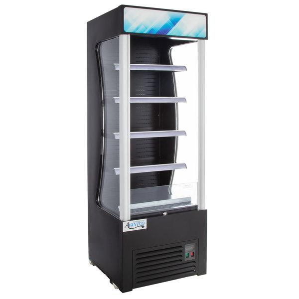 avantco bvac 28hc 28 black refrigerated air curtain merchandiser