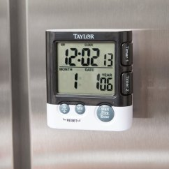 Kitchen Timer Designer Cabinets Taylor 5828 Dual Event Digital With Clock And Date