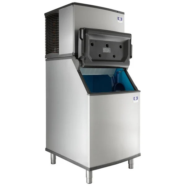manitowoc idt0450a indigo nxt 30 air cooled dice ice machine with bin 115v 470 lb