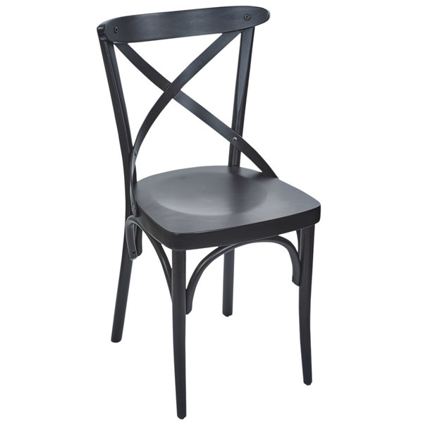 black side chair covers protectors bfm seating zwc88bw bw sophia walnut beechwood main picture